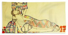 Pieta Bath Towel by Gloria Ssali
