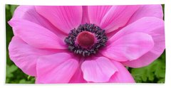 Bath Towel featuring the photograph Pink Flower by Jeannie Rhode