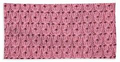 Pink Wool Bath Towel