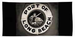 Port Of Long Beach Life Saver Vin By Denise Dube Hand Towel