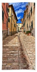 Portoferraio - Isle Of Elba Hand Towel by Antonio Scarpi