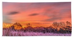 Illinois Prairie Moments Before Sunrise Bath Towel