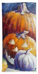 Pumpkin Happy Face Bath Towel