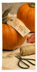 Pumpkins For Thanksgiving Bath Towel