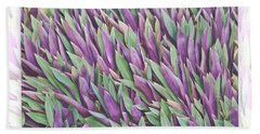 Purple And Green Bath Towel by Holly Kempe