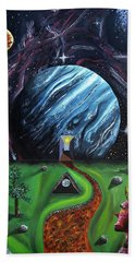 Hand Towel featuring the painting Quantum Dementia by Ryan Demaree
