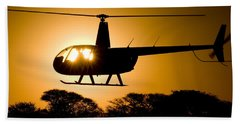 R44 Sunset Bath Towel by Paul Job