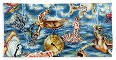 Hand Towel featuring the painting Recipe Of Ocean by Hiroko Sakai