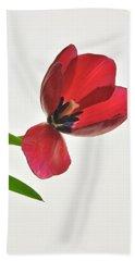 Red Transparent Tulip Bath Towel