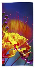 Red Yellow Blossoms 10197 Bath Towel