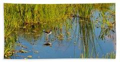 Reflection Of A Bird On Water, Boynton Bath Towel