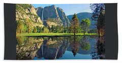 Reflections Of Yosemite Falls Bath Towel