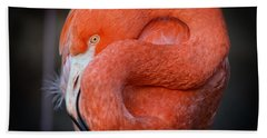 Resting Flamingo Hand Towel