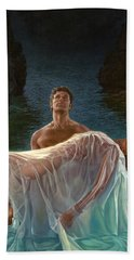 Hand Towel featuring the painting Resurrection by Mia Tavonatti