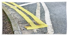 Road Markings Bath Towel