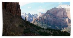 Road Through Zion National Park Hand Towel