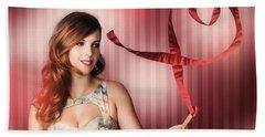Romantic Woman In A Whirlwind Love Romance Bath Towel