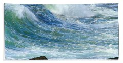 Hand Towel featuring the photograph Rough Seas by Mariarosa Rockefeller