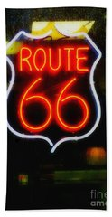 Route 66 Edited Hand Towel by Kelly Awad