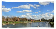 Rowing On The Thames At Hampton Court Hand Towel