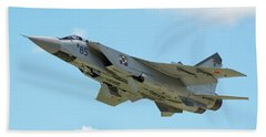 Russian Air Force Mig-31bm Taking Hand Towel