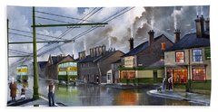 Hand Towel featuring the painting Salop Street Dudley C 1950 by Ken Wood
