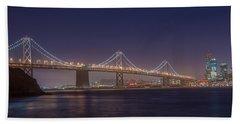 San Francisco Bay Bridge Bath Towel by James Hammond