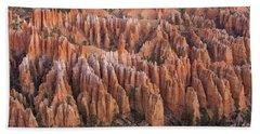 Sandstone Hoodoos In Bryce Canyon  Bath Towel