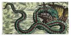 Sea Serpent, 1555 Hand Towel by Granger