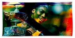 Serena Williams Hand Towel by Marvin Blaine