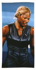 Serena Williams Hand Towel by Paul Meijering