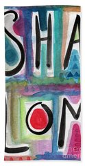 Shalom Hand Towel by Linda Woods