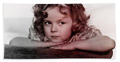Shirley Temple Hand Towel by Marvin Blaine