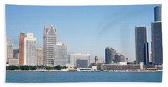 Skyline Detroit Mi Usa Bath Towel