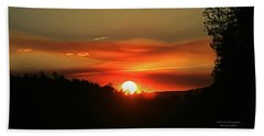 Smokin' Payson Sunset Bath Towel