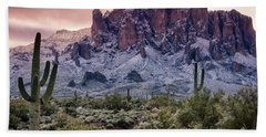 Snow Day At The Superstitions  Bath Towel