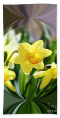 Spring Daffodils   Bath Towel by Tina  LeCour