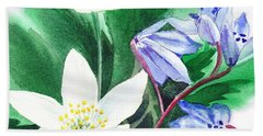 Spring Flowers Bath Towel
