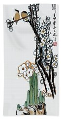 Spring Melody Hand Towel by Yufeng Wang