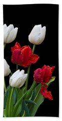 Spring Tulips Bath Towel by Jane McIlroy