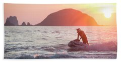 Stand Up Jet Ski Rider  Sessioning Bath Towel