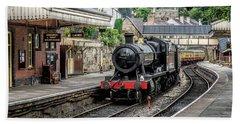 Bath Towel featuring the photograph Steam Train by Adrian Evans