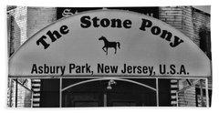 Stone Pony Hand Towel by Paul Ward