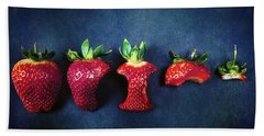 Strawberries Hand Towel by Joana Kruse