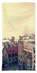 Streets Of Old Quebec City Bath Towel