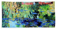 Summer Colors On The Pond Hand Towel