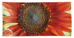Bath Towel featuring the photograph Sunflower by Kathy Bassett