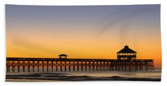 Sunrise Pier Hand Towel