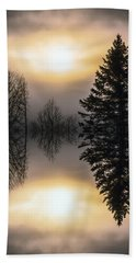Sunrise-sundown Bath Towel by Sherman Perry