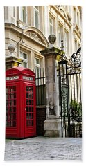Telephone Box In London Hand Towel